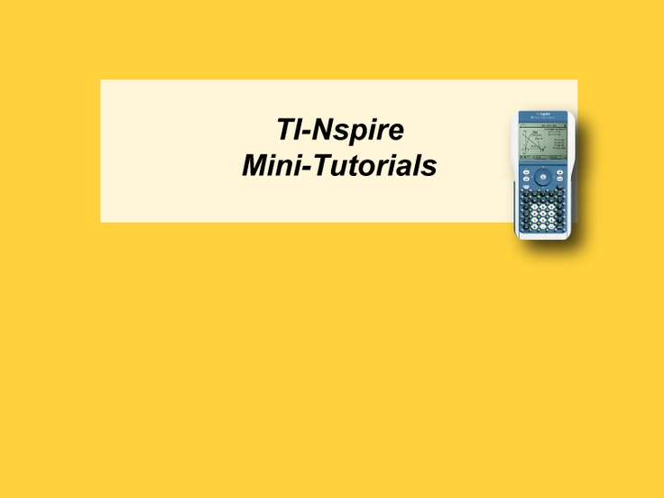 how to use ti nspire cx cas software