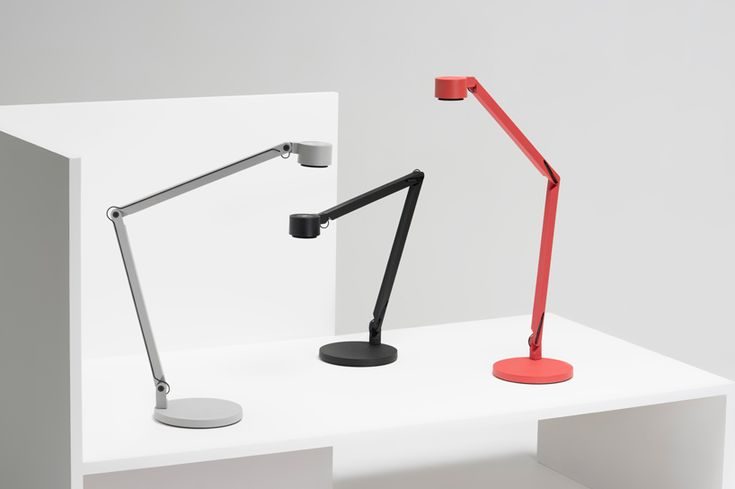 BASF + dirk winkel design bio-polyamide fiberglass LED table lamp for wastberg