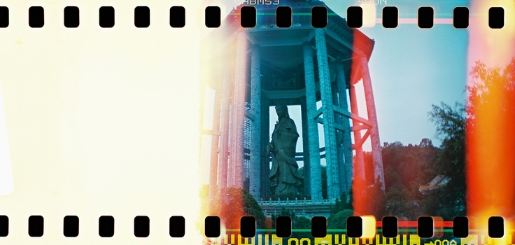 Love it when there are unexpected light leaks.  Kek Lok Si Temple, Penang