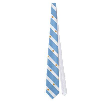 Patriotic Argentinian Flag Tie - accessories accessory gift idea stylish unique custom