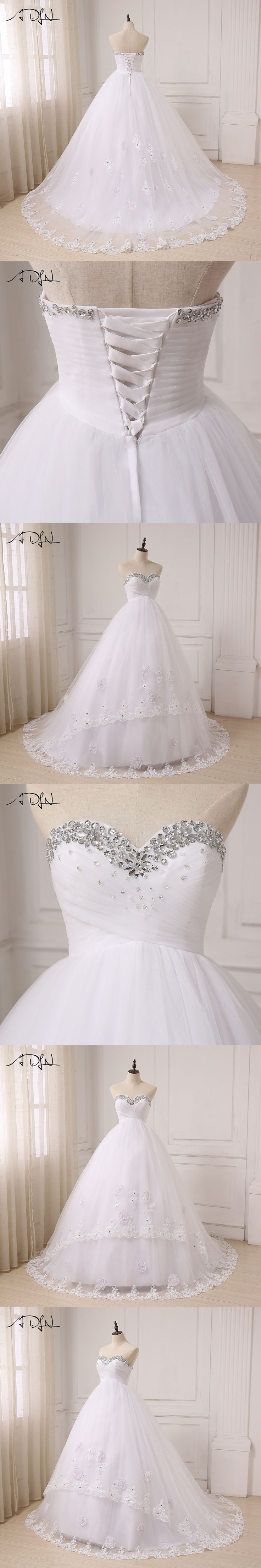 ADLN 2017 Pregnant Ball Gown Wedding Dresses Sweetheart Sleeveless Sweep Train Tulle Bride Wedding Gowns Plus Size