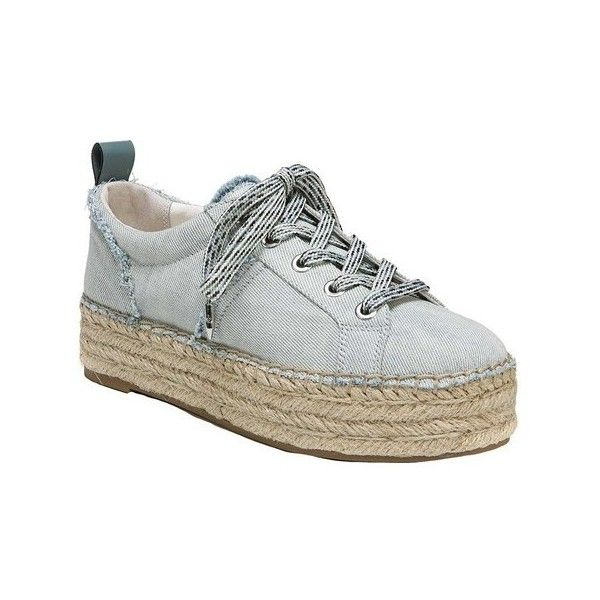 Women's Sam Edelman Carleigh Platform Espadrille Sneaker ($100) ❤ liked on Polyvore featuring shoes, sneakers, blue, casual, leather espadrilles, flatform sneakers, blue leather sneakers, sam edelman espadrilles and lace up platform espadrilles