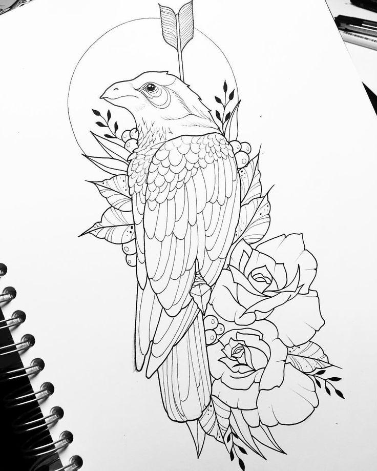 """Mi piace"": 130, commenti: 4 - Dora (@doratattoos) su Instagram: ""Crows 🥀 #inked_muse"""