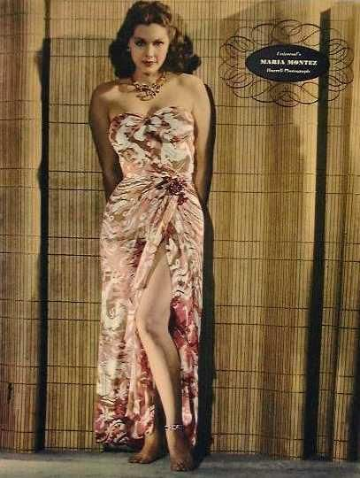 vintage hawaii sarong dress color ad 40s 50s floral pink red white strapless
