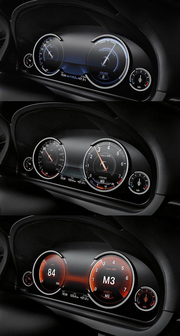 #car #dashboard  BMW 7 Comfort Mode