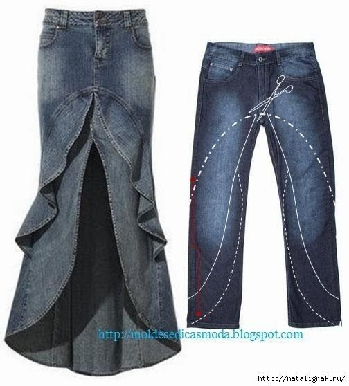 I'd do this with pants that are not jeans since jean skirts scream religious homeschooler in my neck of the woods.