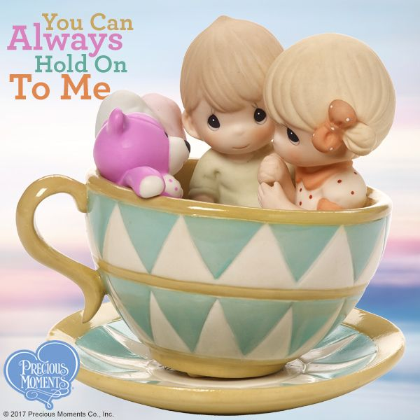 These two cutie pies enjoy their ride through the twists and turns of life in love. Just perfect as a romantic summer birthday, anniversary, wedding or 'just because' gift. (Plus, it adds a nice touch to any Precious Moments figurine collection!)  #PreciousMoments #LifesPreciousMoments #Love #YouCanAlwaysHoldOnToMe