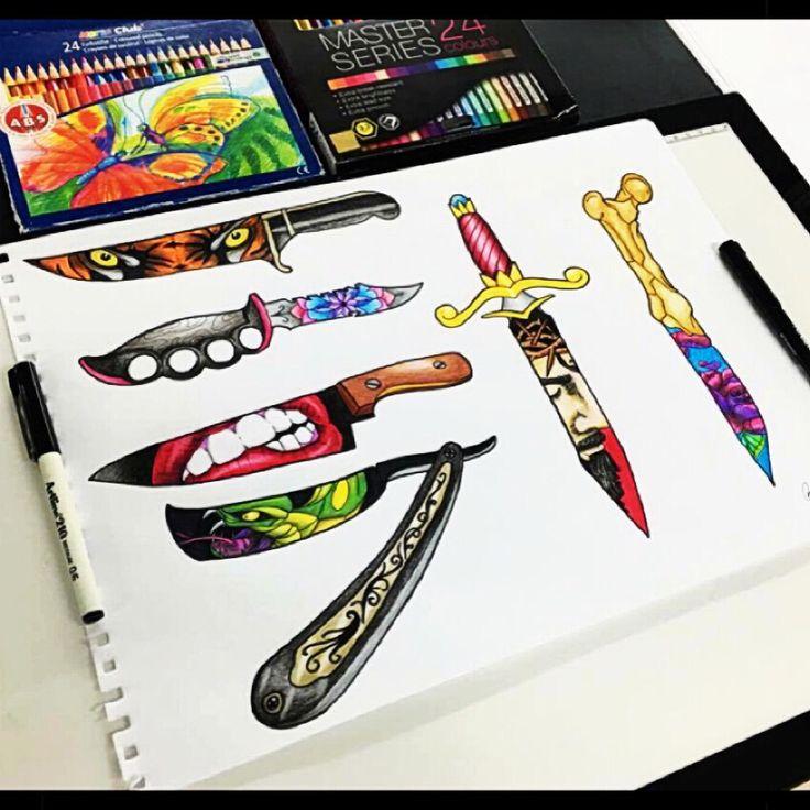 Knife/dagger flash sheet