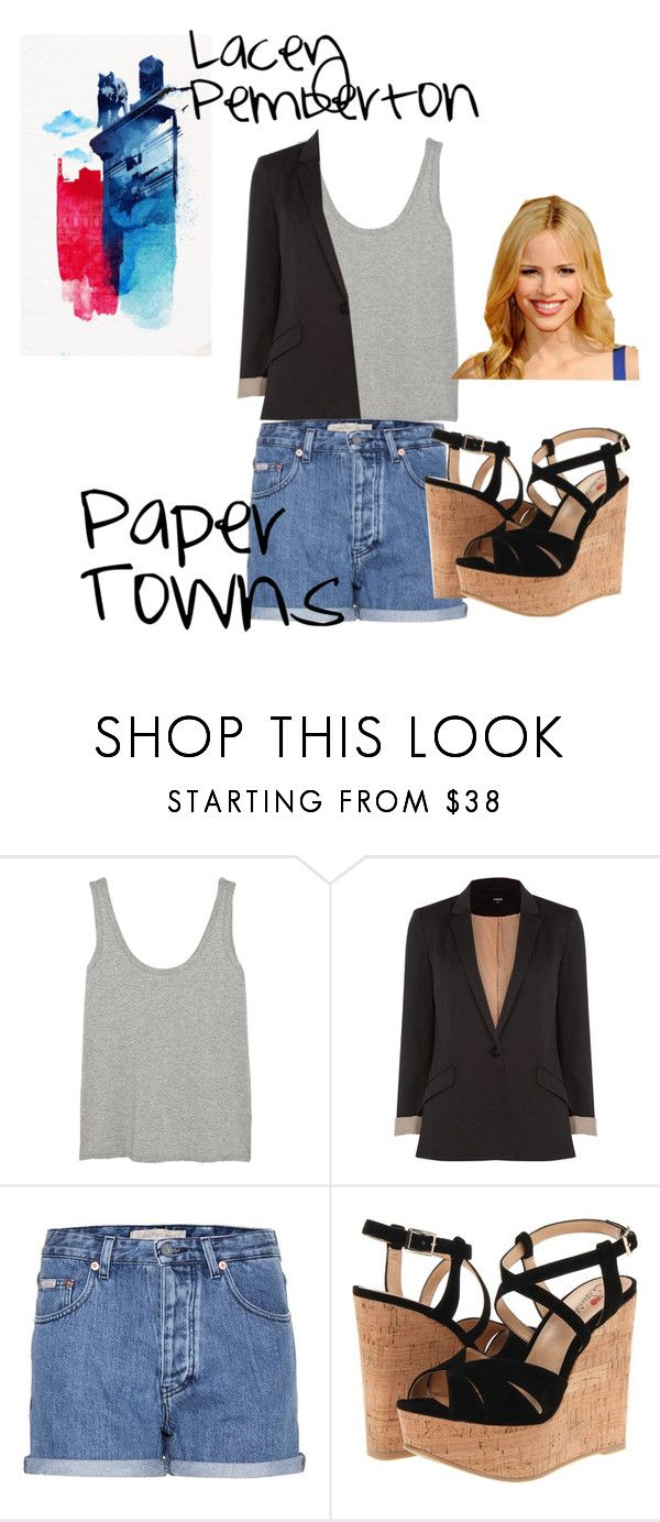 """""""Lacey Pemberton"""" by allie-peay ❤ liked on Polyvore featuring The Row, Oasis, Calvin Klein Jeans, Luichiny and Halston"""