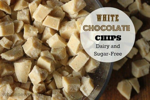 Homemade White Chocolate Chips!!!   #soyfree #nutfree