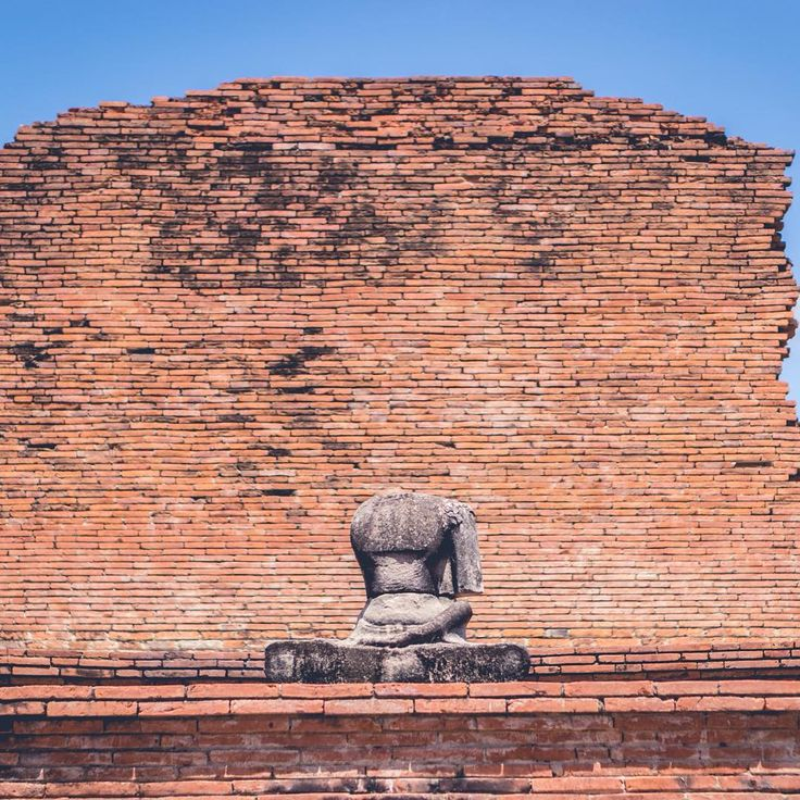 At Wat Mahathat || #bangkok #ayutthaya #thailand #travel #buddha