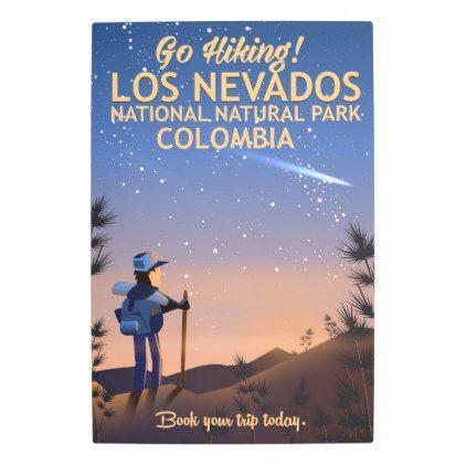 #Posters #Metal #Art - #Los Nevados National Natural Park Travel poster