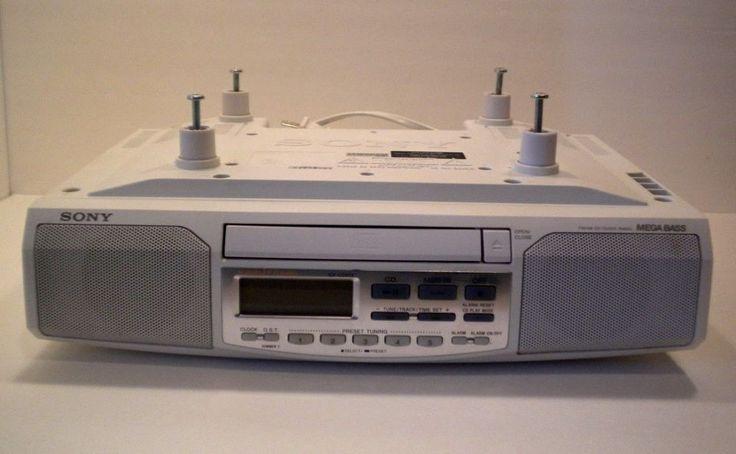 sony under cabinet am/fm cd clock radio 2