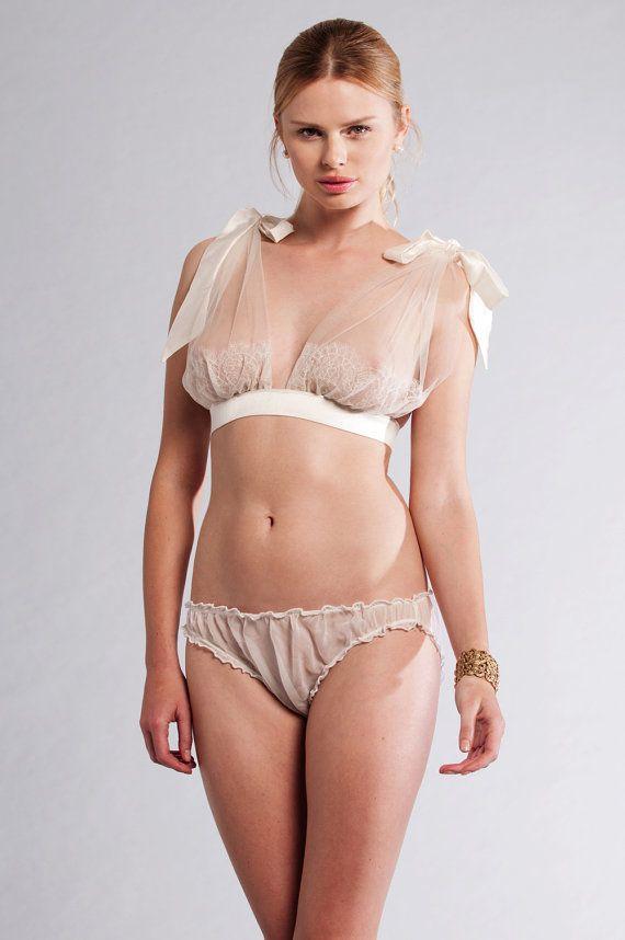Sheer lingerie model