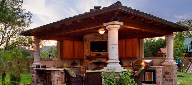 Best 25+ Covered outdoor kitchens ideas on Pinterest ...