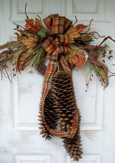 Harvest Sugar Pine Cone Swag