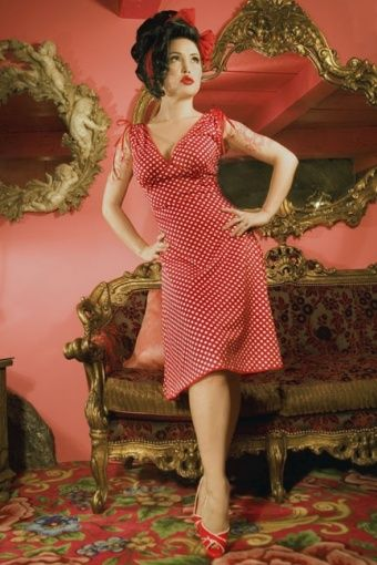 Pinup Couture - Anna Dots Red dress