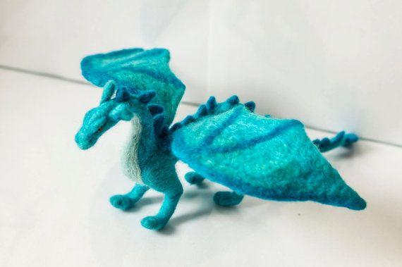 Blue Dragon by SmallAtticBedroom on Etsy