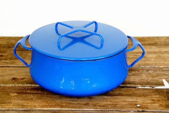 Dansk Kobenstyle Blue Enamel Pot // by LarchTradingCompany on Etsy, $58.00