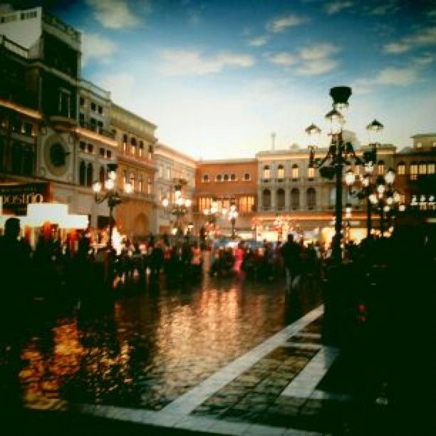 """The Plaza at the Venetian - full of shops, """"tourists"""", and restaurants. Almost like the real thing:) www.ourchoix.com"""