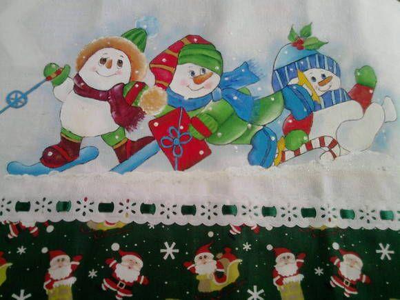 pintura em tecido motivo natal - Pesquisa Google                              …