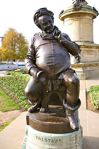 Falstaff (Henry IV) statue in Stratford-upon-Avon. Have a picture with this one!!