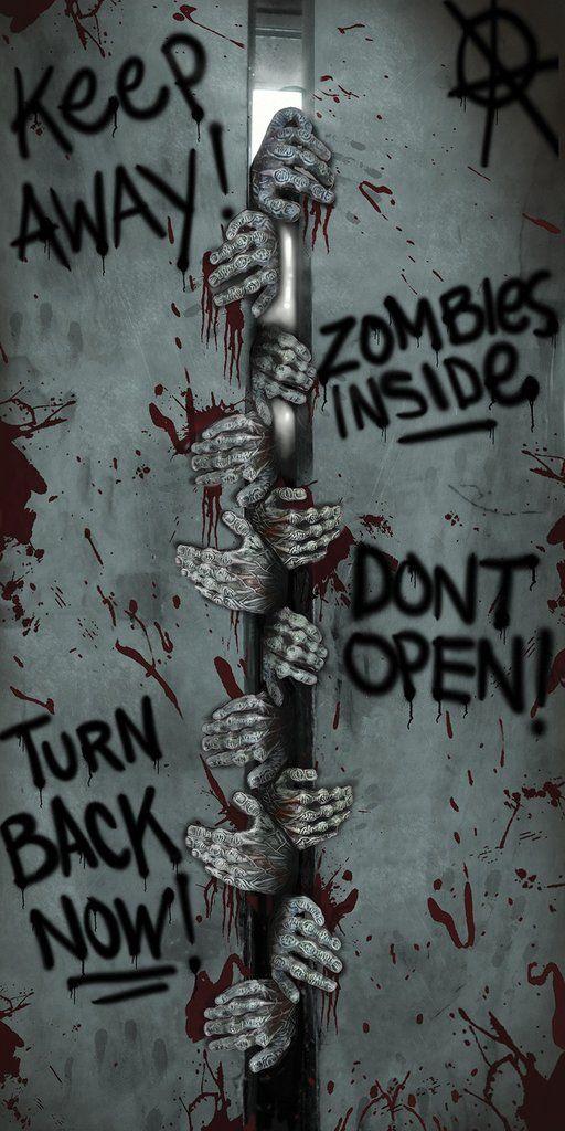 Zombie Halloween Decoration Door Cover