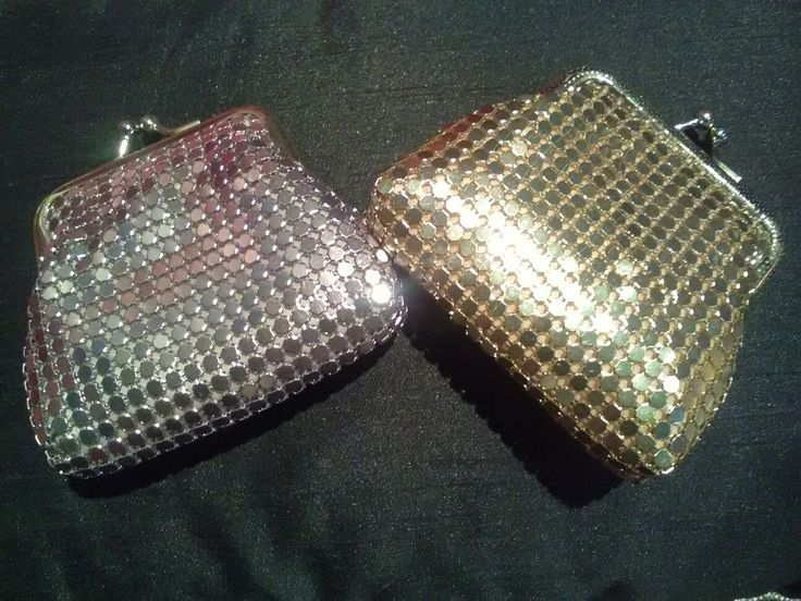 Modern Mesh - classic style coin purses in silver and gold
