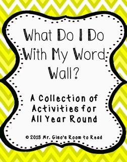 Activities to do with your word wall