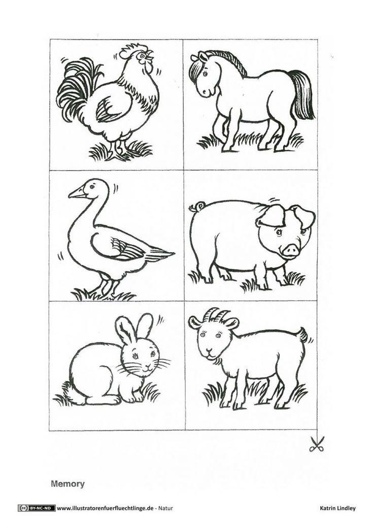 Pin Auf Bauernhof Tiere Malen