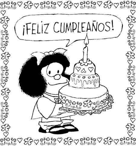 Imagenes y tarjetas de cumpleaños para imprimir - Estilo Femenino