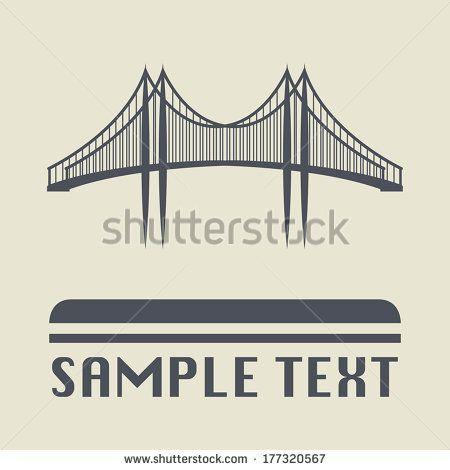 Bridge icon or sign, vector illustration