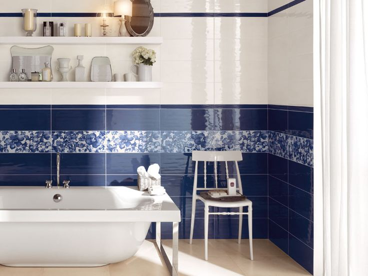 Oltre 1000 idee su blu da bagno su pinterest colori da - Bagno blu e bianco ...