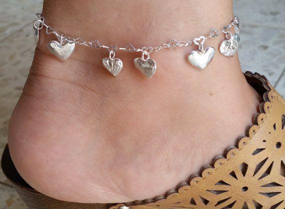Silver Ankle Bracelet Sterling Silver Bracelet by TalyaDesign