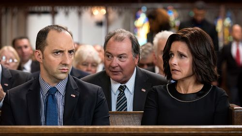 Veep season 5 episode 4 Selina rushes to the hospital while attempting to win the presidency. Amy and Dan discover the O'Brien camp has staged a fake protest, and task Jonah and Richard with organizing their own pro-POTUS demonstration. Mike and Wendy meet with a potential surrogate.