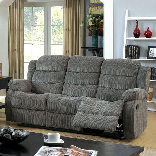 Furniture Of America Aurese Chenille Reclining Sofa By Furniture Of America