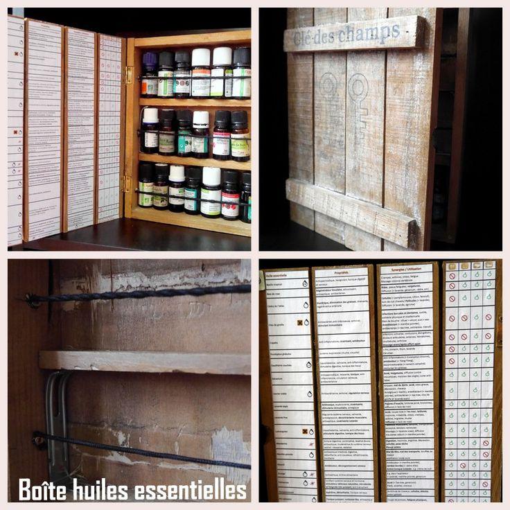 Bo u00eeteà clés en bois transformée en bo u00eete pour huiles essentielles Unélastiqueà cheveux coupé  # Huile Pour Bois Intérieur