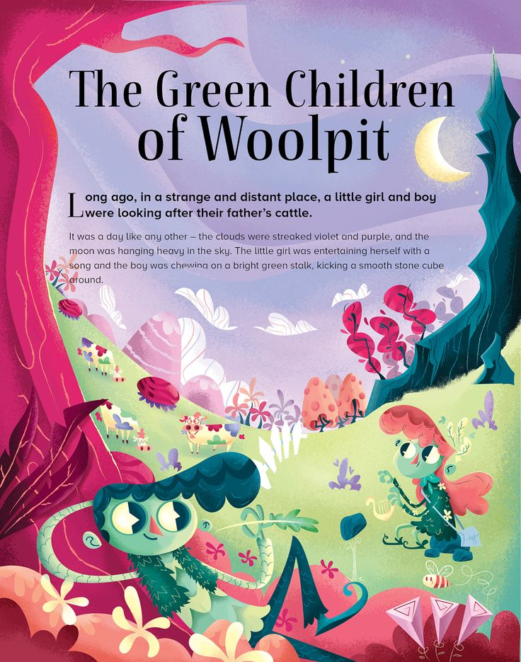 Storytime Magazine - The Green Children of Woolpit on Behance