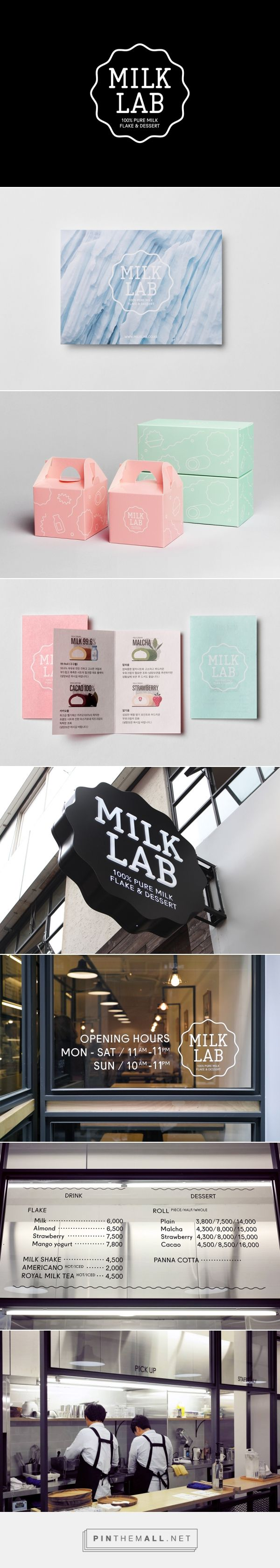 New Logo and Brand Identity for Milk Lab by Studio fnt - BP&O... - a grouped images picture - Pin Them All