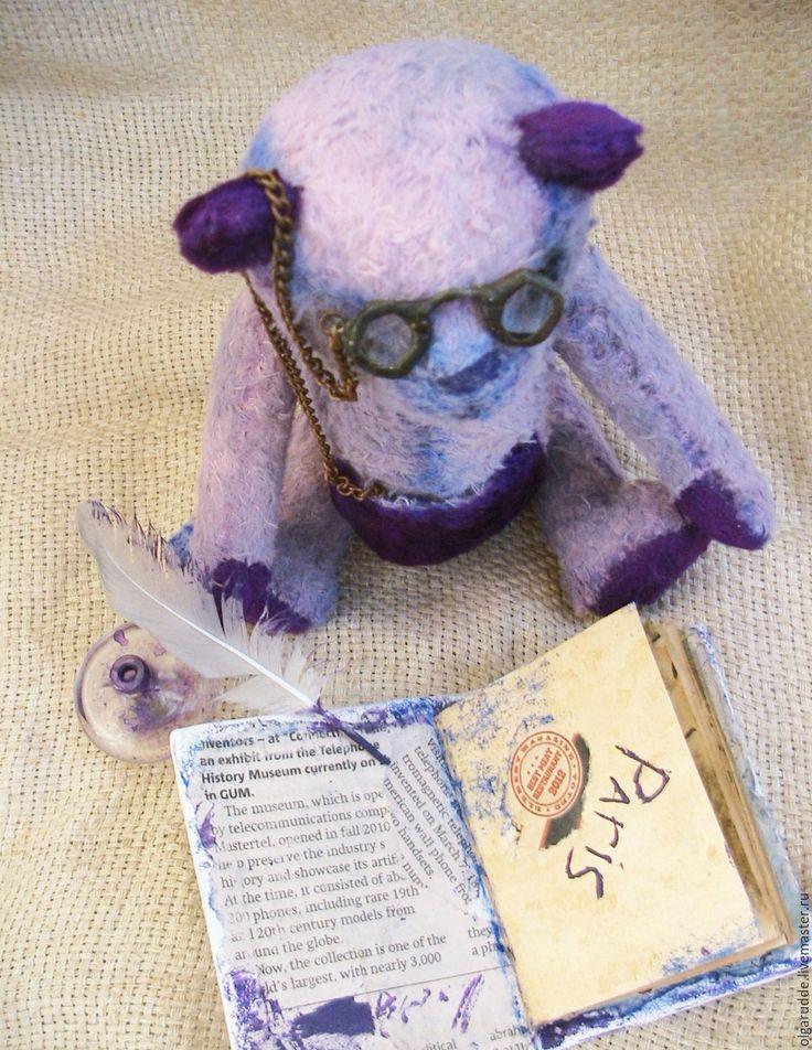 Купить Тедди мишка Мемуар. - фиолетовый, мишка тедди, мишка ручной работы, мемуары