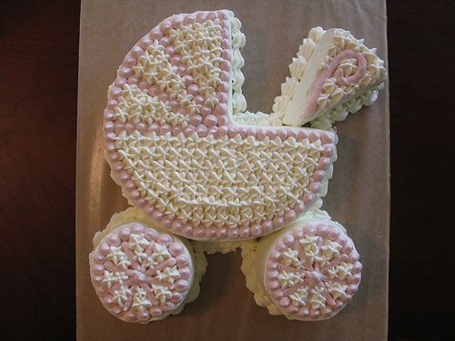 baby carriage shower ckes | baby shower stroller cake