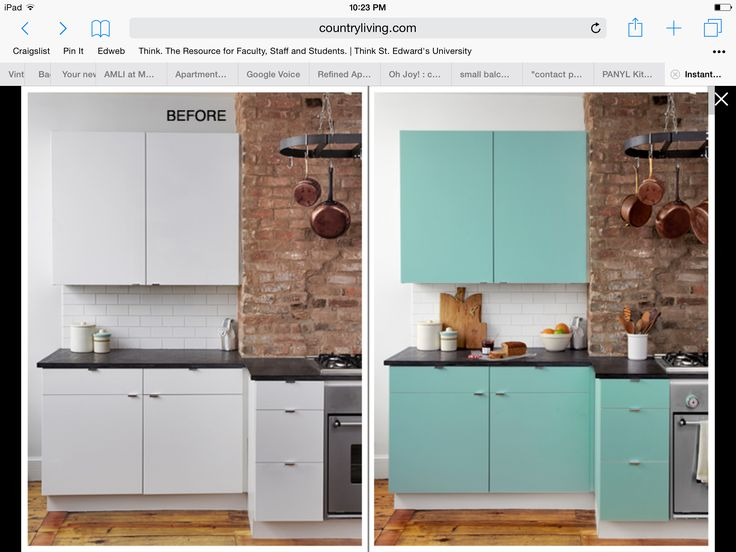 For renters: Contact paper kitchen cabinet makeover                                                                                                                                                                                 More