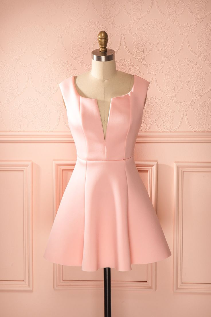 A beautiful little wedding attendance number? I think so. Ahava - Candy pink scuba knit dress