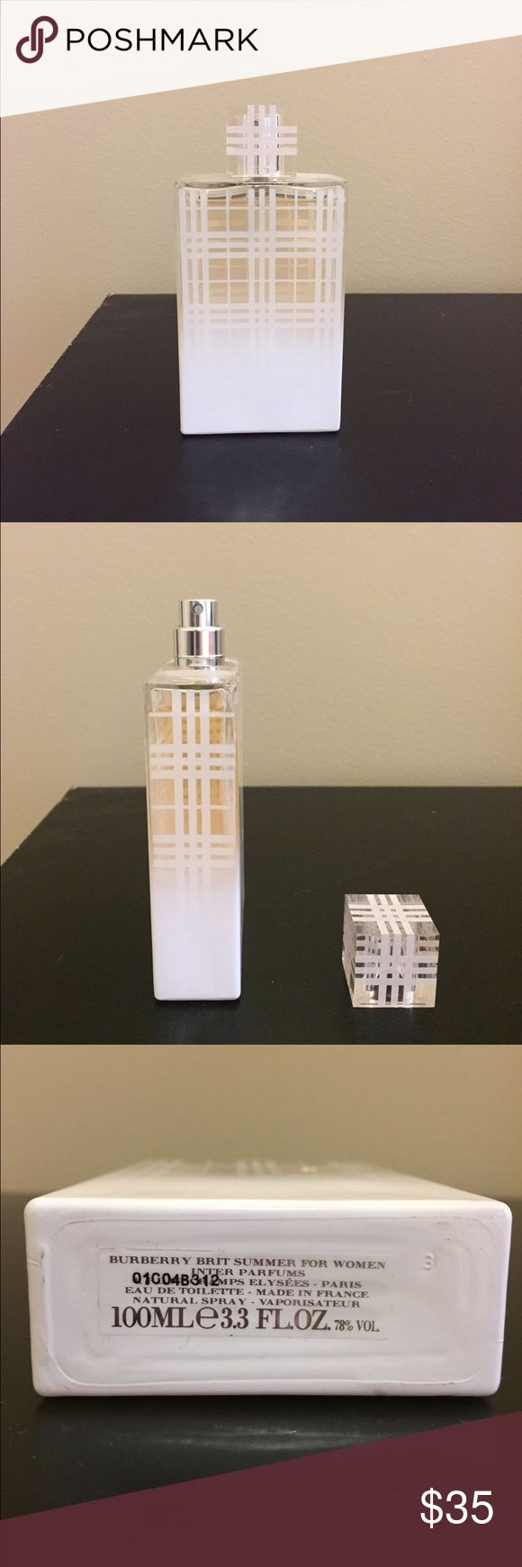 Burberry Brit Summer Perfume Burberry Brit Summer Perfume only used a few times. 3.3 fl oz. Burberry Makeup