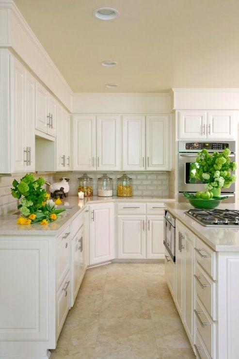 Suzie: Tobi Fairley - Amazing kitchen with white kitchen cabinets, granite countertops, cooktop ...