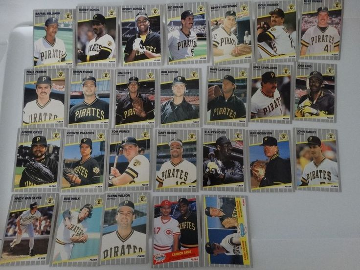 1989 Fleer Pittsburgh Pirates Team Set of 26 Baseball Cards #PittsburghPirates