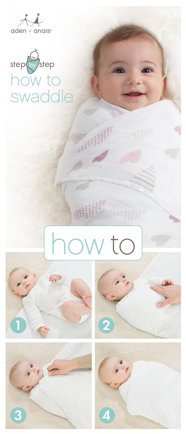 Swaddling made simple (really). The swaddling experts at aden + anais are here to end your swaddle struggles once and for all. You're just four easy steps from a good night's sleep (for all of you).