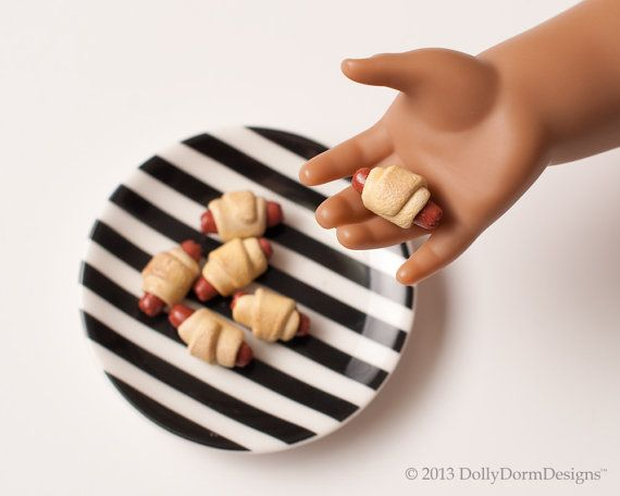 American Boy Doll or Girl Doll House Food and by DollyDormDesigns