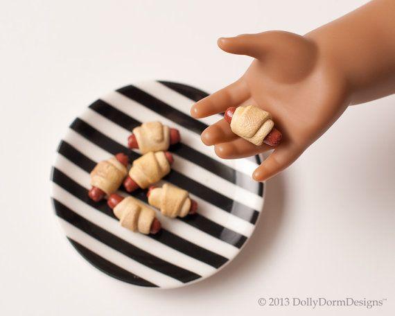 Pigs In A Blanket American Girl Doll Food by DollyDormDesigns