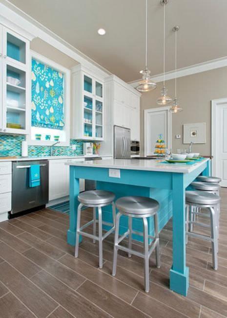 Дизайн и 3d моделирование интерьеров - Синий цвет в интерьере кухни
